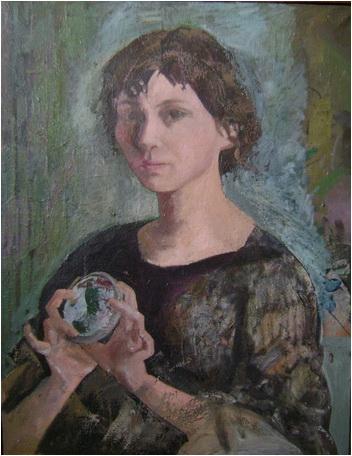Adina romanescu Autoportret cu oglinda 2008