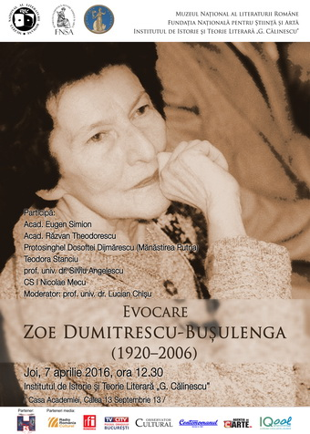 Afis Zoe Dumitrescu-Busulenga