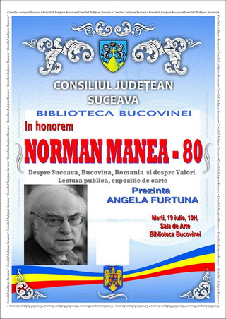 In honorem NORMAN MANEA _ 80 afis