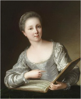 Jean Marc Nattier, portrait de jeune femme