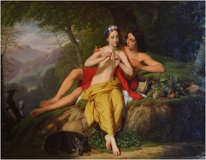 Louis Hersent  Daphnis si Chloe 1817