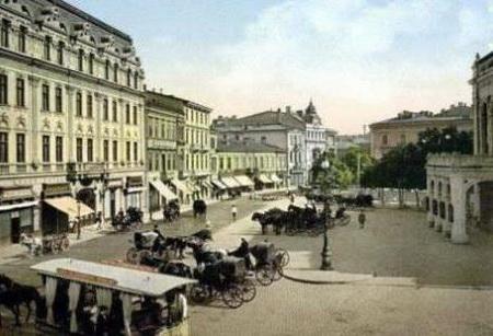 Piata-teatrului-national-calea-victoriei sec XIX