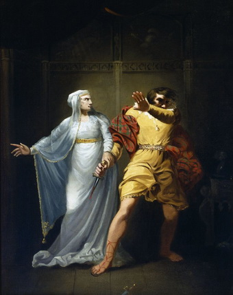 Sarah Siddons as Lady Macbeth. Oil painting by Robert Smirke, ca. 1790 1810. Folger Shakespeare Library.