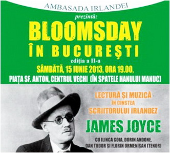bloomsday ulise joyce bucuresti
