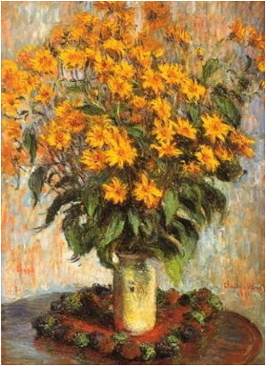 claude monet flori de topinambur