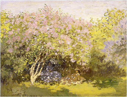 claude monet liliac in soare 1872