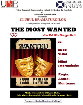 clubul dramaturgilor most wanted edith negulici