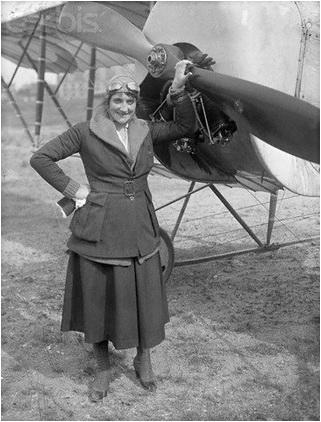 elise deroche prima femeie pilot