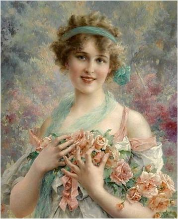 emile vernon portret de femeie