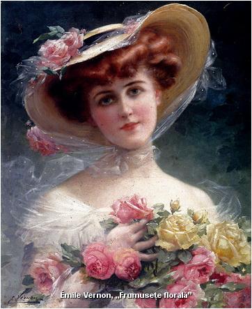 emile-vernon portret frumusete florala
