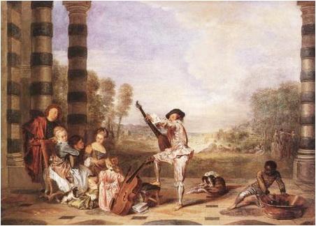 farmecele vietii antoine watteau 1717 18