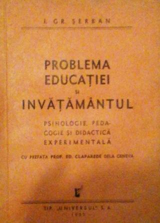 i gr serban problema educatiei
