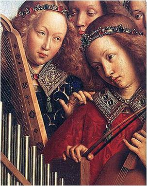 ingeri muzicieni categrala saint bavon gand jan van eyck
