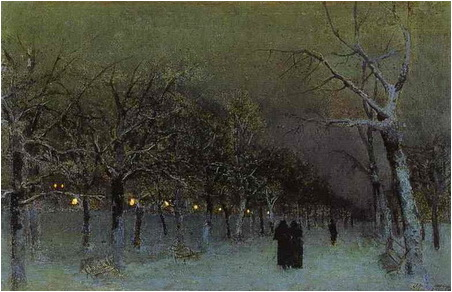 isaac-levitan-boulevard-at-evening-1883