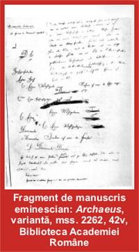 mihai eminescu manuscris arhaeus – Liber să spun – Pagina Home