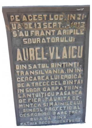 placa monument vlaicu banesti