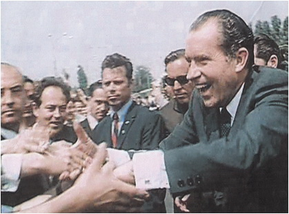 richard nixon in romania 1969