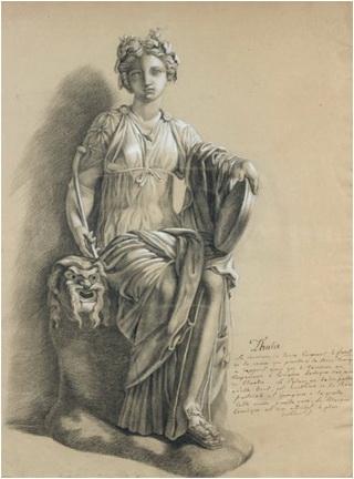 studiu dupa statuia thaliei scoala franceza secolul XVIII