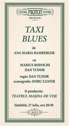 taxi blues avanpremiera la teatrul mignon